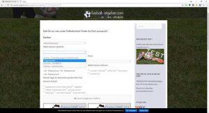 Fußball-Schuh-Finder der Webseite fussball-ratgeber.com