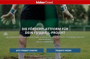 Bild von der Webseite Kickercrowd - Eine Plattform zur Unterstützung von Fußballprojekten
