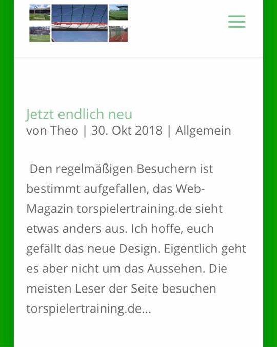 Design Torspielertraining.de