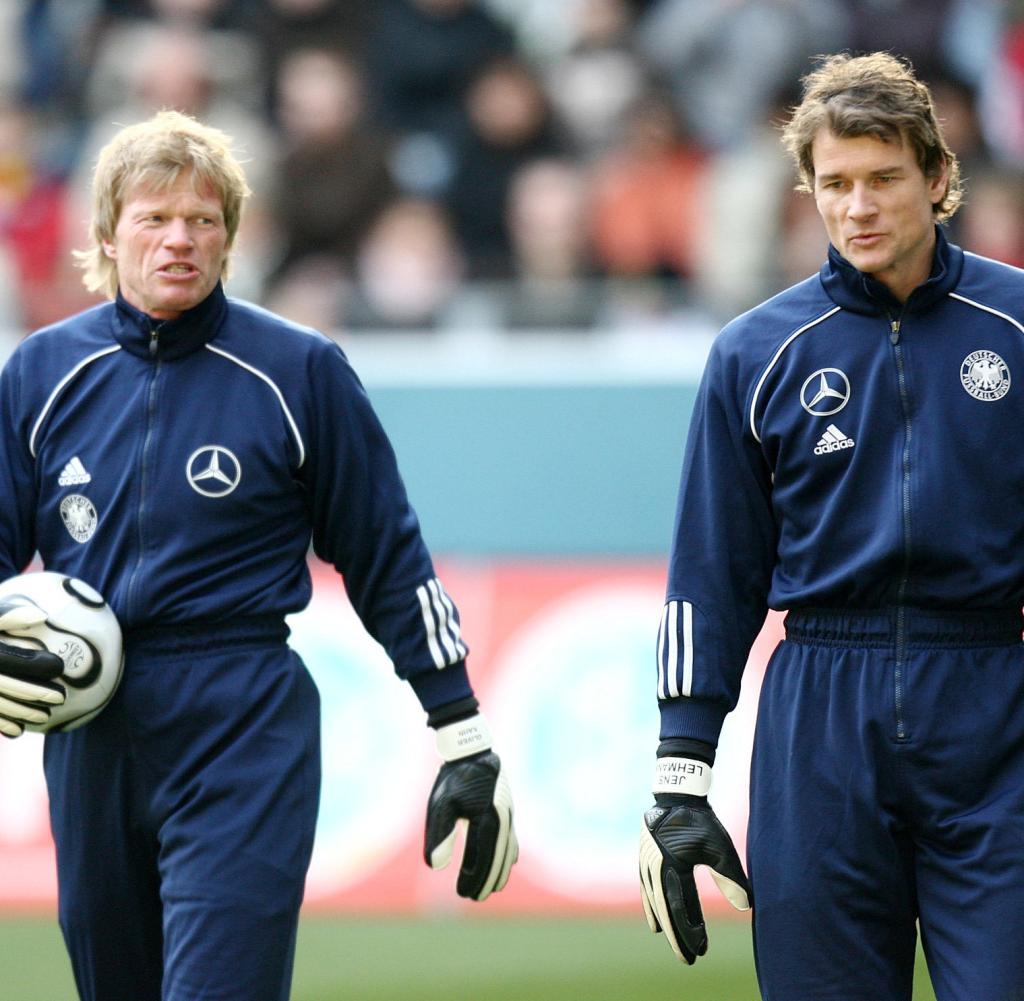 Foto National-Torhüter Oliver Kahn und Jens Lehmann